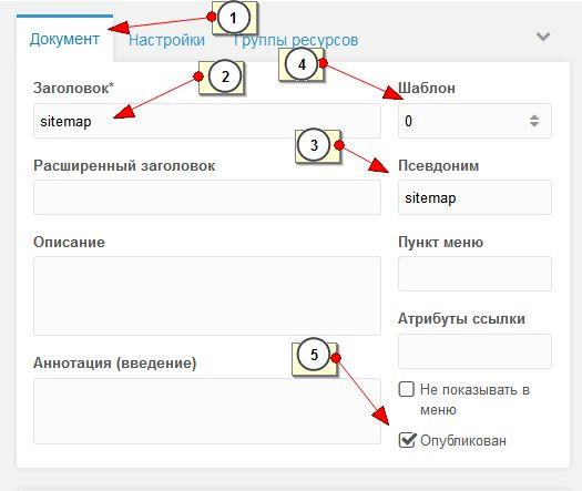 Modx revo как сделать карту сайта музыка прикол для css сервера